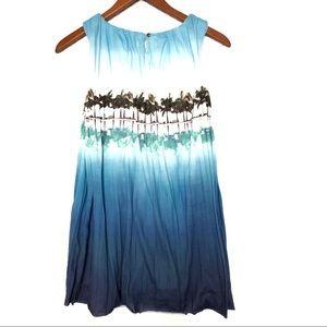 Lands' End Cotton Hawaiian summer dress Girls 10